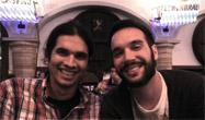 Picture of Cristian Ciraci (right) and I (left) at the CLEO/Europe-EQEC 2015 conference dinner.